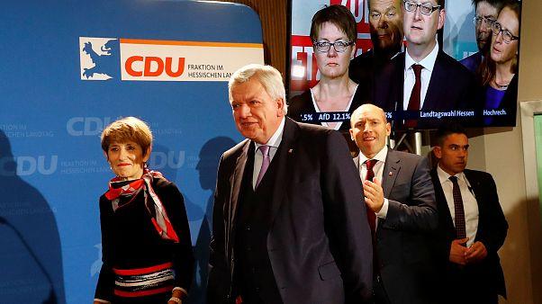 Hessen: Schwarz-Grün verteidigt Mehrheit knapp