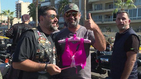 Motards alertam para o cancro da mama no Líbano