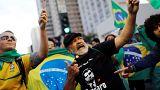 Apoiantes de Jair Bolsonaro festejam êxito do PSL