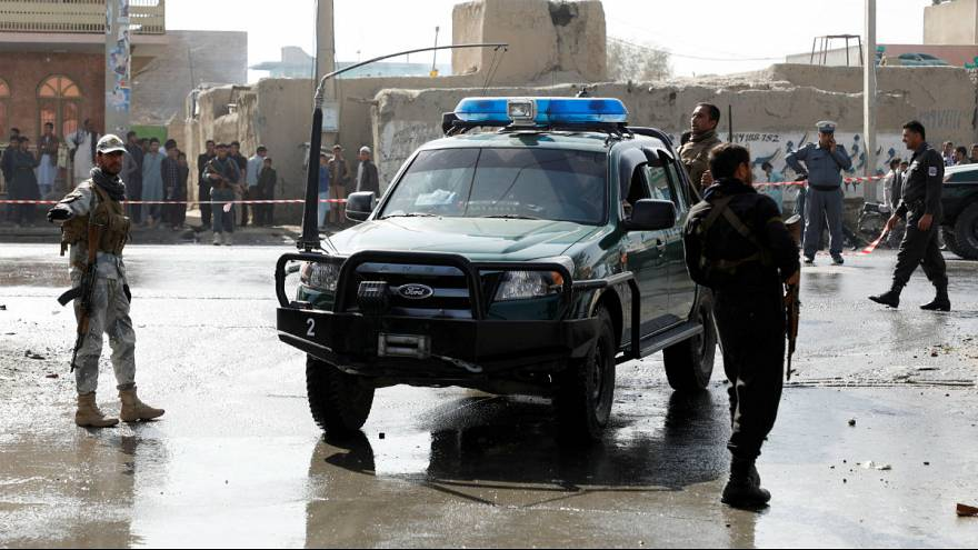 the site of a suicide attack in Kabul