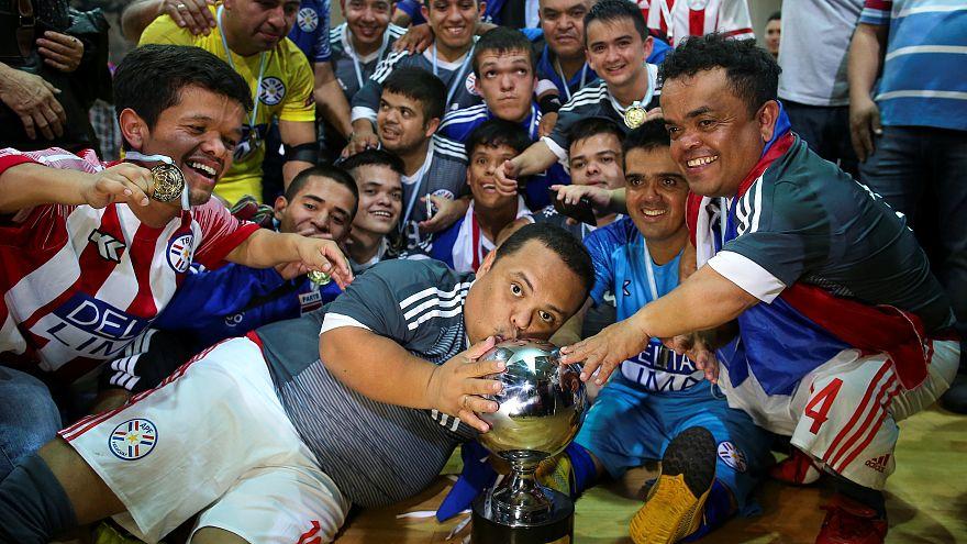 Urguay celebra su victoria ante Argentina en la Copa América