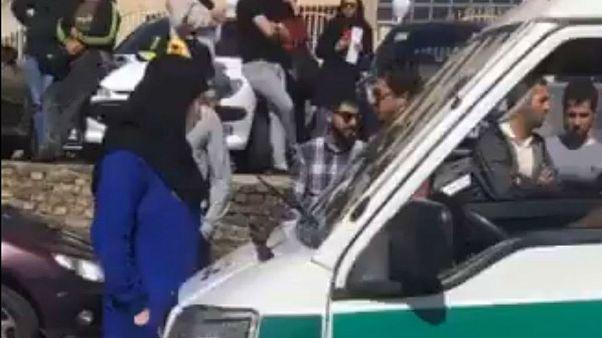 واکنش پلیس تهران به ماجرای سوهانک: دختری جلو خودرو گشت آمد و راننده ترمز کرد
