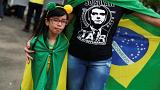 A young supporter of Brazil's newly elected president Jair Bolsonaro