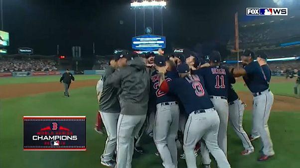 Boston gewinnt Baseball-Meisterschaft