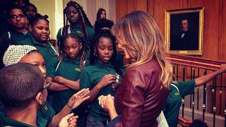 صورة لتلميذة إفريقية تتجاهل ميلانيا ترامب تشعل مواقع التواصل الاجتماعي
