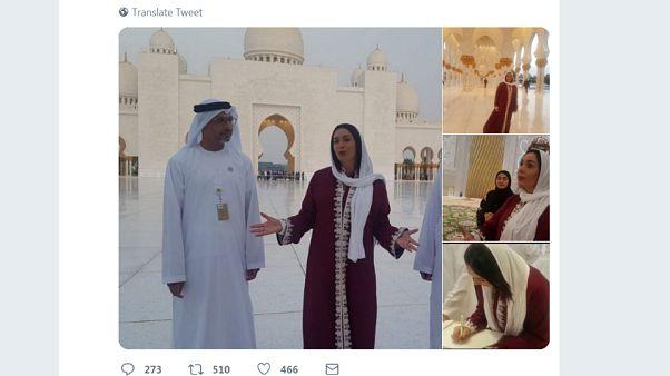 هكذا قابل رواد مواقع التواصل العرب زيارة وزيرة الثقافة الإسرائيلية مسجد الشيخ زايد في أبوظبي