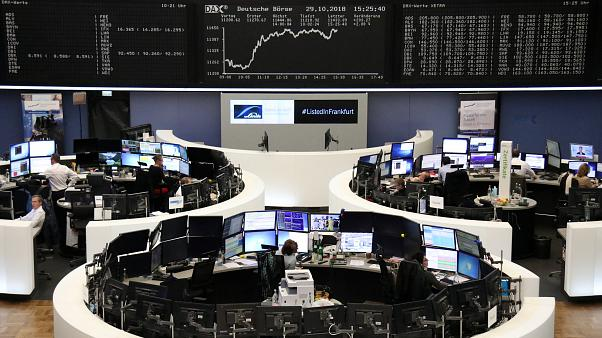 Big bounce for European shares as investors put messy October behind them