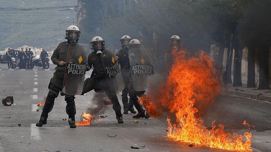 Molotov-koktélok Athénban