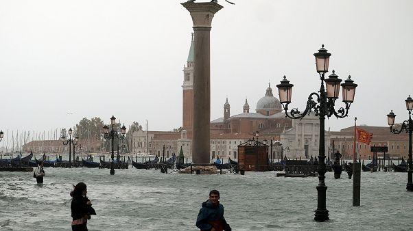 El temporal en Italia deja Venecia inundada