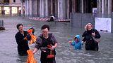 Фото и видео: Венеция на 75% затоплена водой