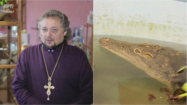 Crocodiles used by Russian church in bid to attract more youngsters to prayer