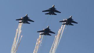 Rus uçağının düşürülmesinin ardından İsrail'den Suriye'ye ilk saldırı