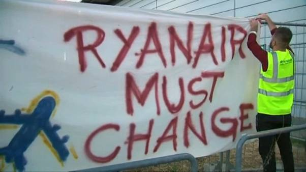 Cancelados mais voos da Ryanair na Bélgica