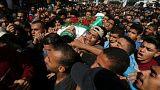 İsrail saldırısında hayatını kaybeden Filistinli çocuklar toprağa verildi