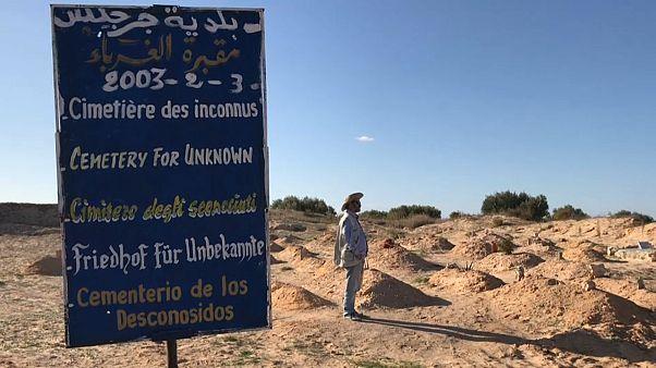 Cemitério dos Desconhecidos, em Zarzis, na Tunísia