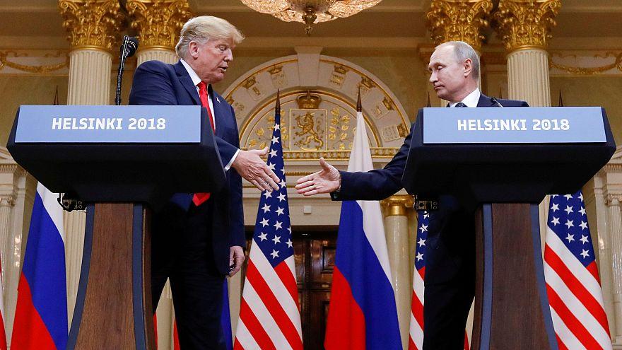 Trump und Putin bei einem Treffen in Helsinki