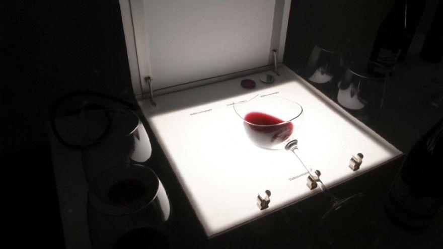 Die Lightbox guckt ganz tief in den Wein