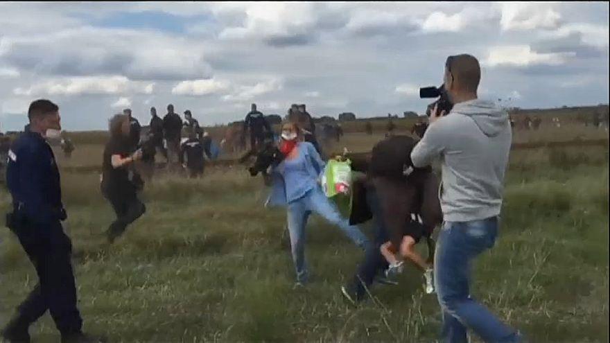 El Tribunal Supremo húngaro absuelve a la periodista que pateó y zancadilleó a refugiados en 2015