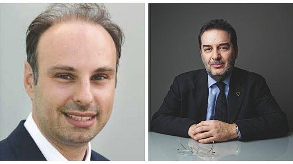 Ο καθηγητής Ιωάννης Κρικίδης (αριστερά) και ο Γεράσιμος Φιλιππάτος (δεξιά)