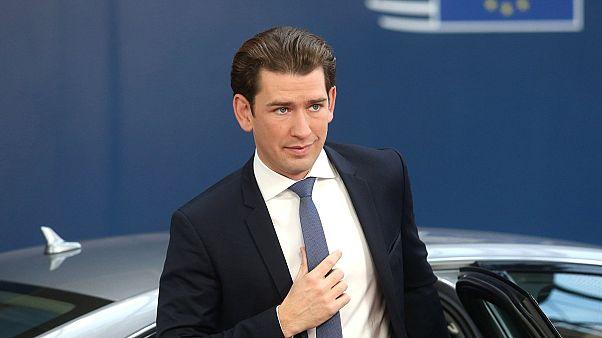 Austrian Chancellor Sebastian Kurz.