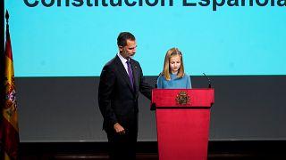 La princesa Leonor hace su primera lectura pública