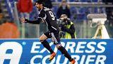 Iaquinta a Cesena játékosaként gólt szerez, 2012-ben egy bajnoki mérkőzésen
