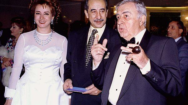 الإعلامي حمدي قنديل وزوجته الممثلة نجلاء فتحي والمخرج السوري مصطفى العقاد