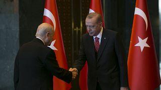 Erdoğan Cumhuriyet Bayramı kutlamaları kapsamında Bahçeli'yi kabul etti