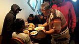 Bosnian war veteran hosts soup kitchen for migrants