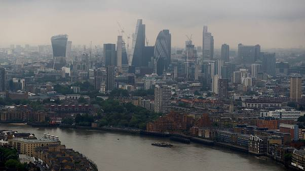 The City of London seen from Canary Wharf