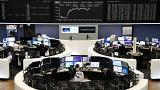 European shares hit one-month high as banks, Sodexho shine