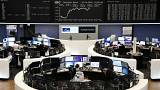 European shares rebound as trade hopes chase tech scares