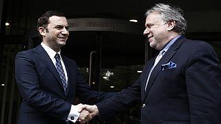 O αν. υπ.Εξωτερικών Γ.Κατρούγκαλος με τον αν.πρωθυπουργό της ΠΓΔΜ Μπ.Οσμάνι