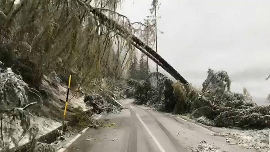 Dieciséis muertos por el temporal en Italia