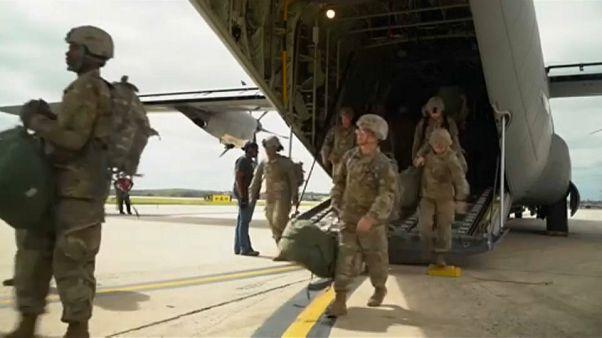 Llegan los primeros militares a Texas por la caravana de inmigrantes