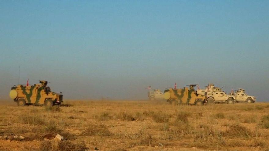 VİDEO | Savunma Bakanlığı, TSK ve ABD'nin Menbiç'teki ilk ortak devriye görüntülerini yayınladı