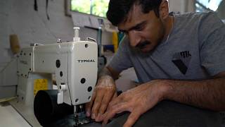 Germans launch fashion label which makes bags from migrant dinghies