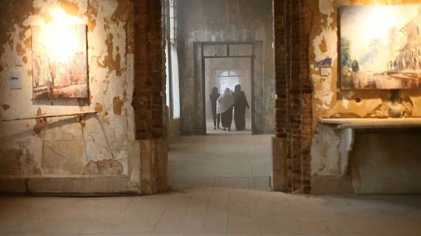 Video | Lübnan'da metruk Osmanlı dönemi oteli resimle yeniden hayat buluyor