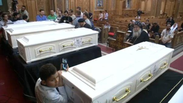 Előkészítették a kopt zarándokok temetését