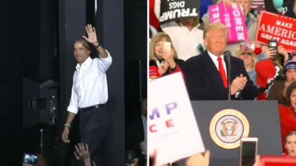 US midterms: Trump and Obama trade blows before crucial vote