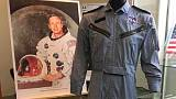 Neil Armstrong auction includes moon flag, Gemini flight suit