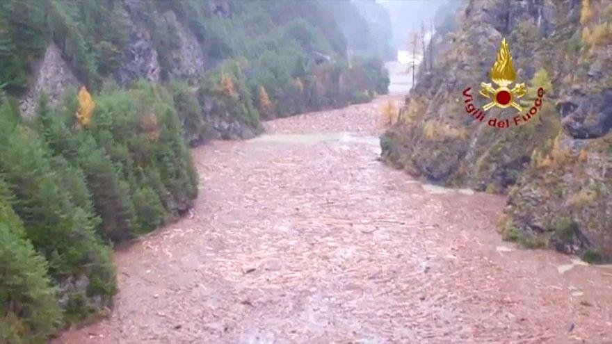 Las lluvias torrenciales causan 20 muertos en el norte de Italia