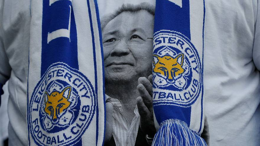 In Pictures: Leicester City owner Vichai remembered by footballers and loved ones