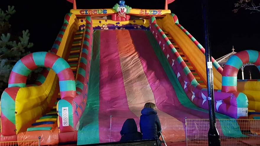 Eight children injured in fall from inflatable slide at UK fireworks event