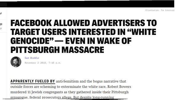 """Le scuse di Facebook per le inserzioni """"suprematiste"""""""