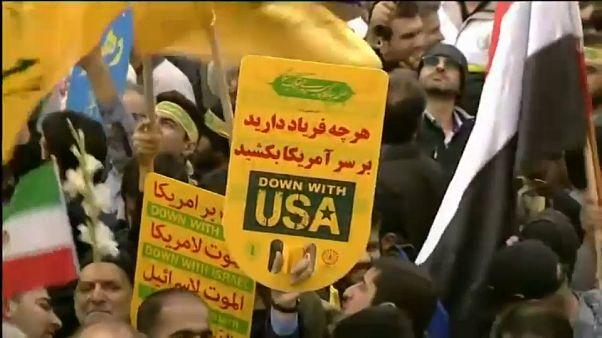 في ذكرى اقتحام السفارة الأمريكية.. آلاف الإيرانيين في شوارع طهران تنديدا بالعقوبات الأمريكية