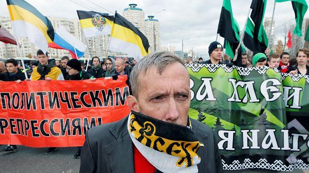 """""""Русский марш"""" националистов в Москве"""