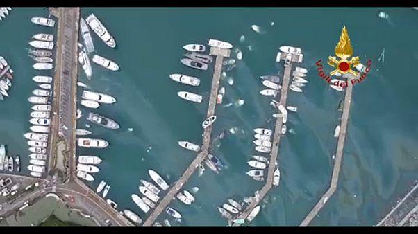 ویدئو؛ شهرهای ایتالیا پس از طوفان و سیل شدید