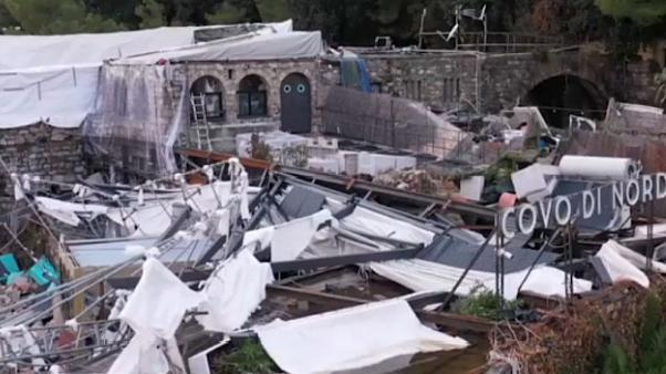 Aerial footage shows extent of damage in Italy's storm-hit Rapallo