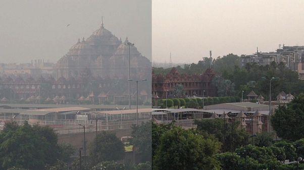 شاهد: نسبة تلوث قياسية في الهند